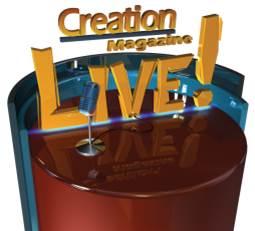 creation magazine button